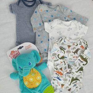 Carter's preemie onesies & toy Bundle